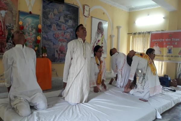 MVM School Dharamshala Teachers celebrated Yoga day.