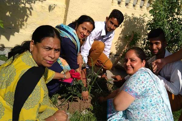 MVM School Dharamshala Teacher's & Students  Planting plants on Environment Day.