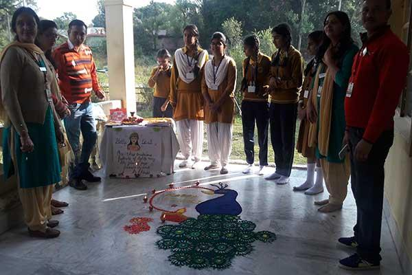 MVM School Dharamshala organized Rangoli competition.