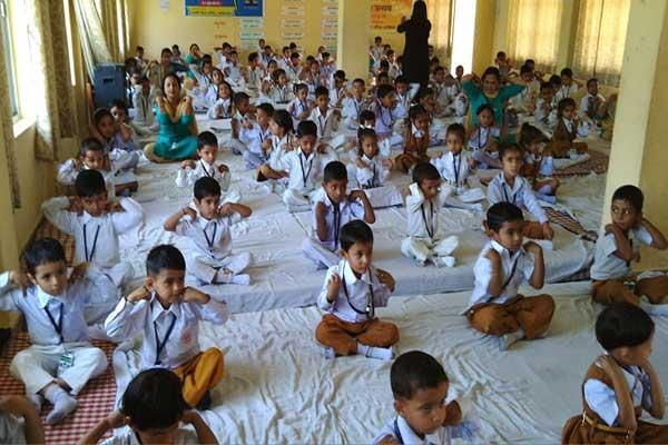 MVM School Dharamshala Students Participated in Meditation.